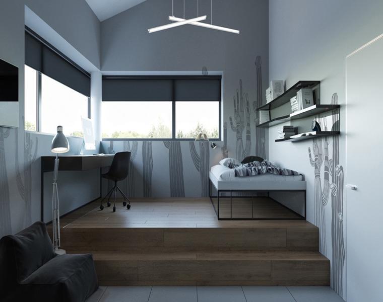 dormitorio pequeño decoración sencilla