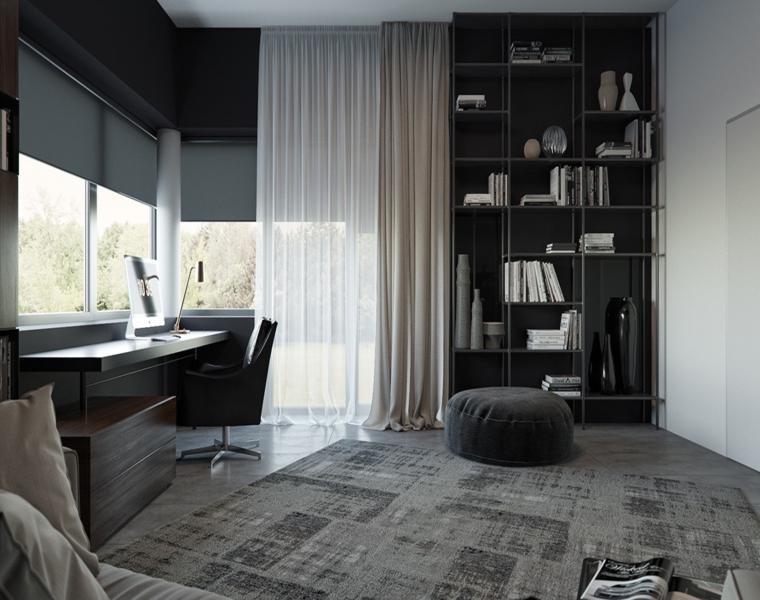 interior moderno color gris