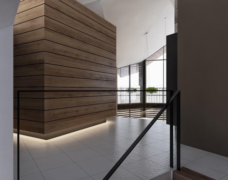 pared acento madera