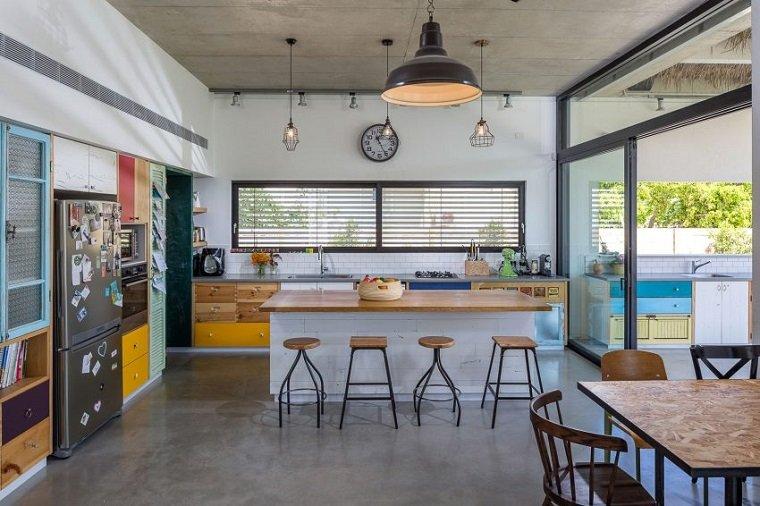 brahma architects diseno cocina colorida ideas