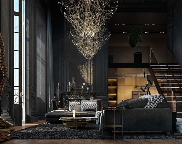 salon estilo moderno