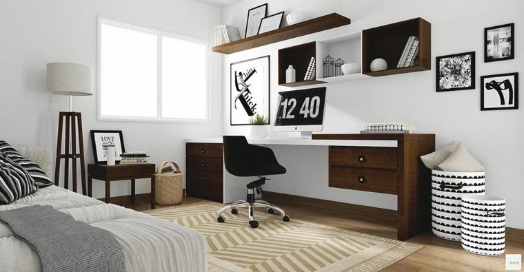 diseño diffuse virtual oficina nordica
