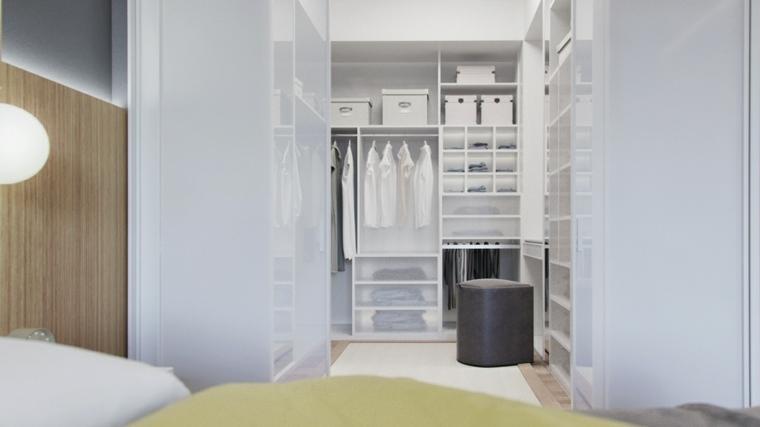 diseño vestidor blanco moderno