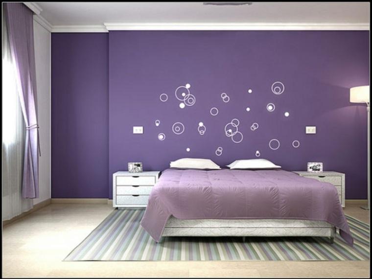 alfombra colorida dormitorio