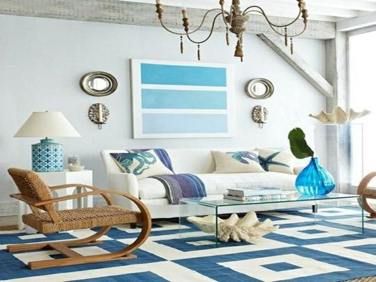 alfombras azules interior
