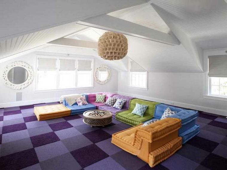 alfombras de colores modernas interior