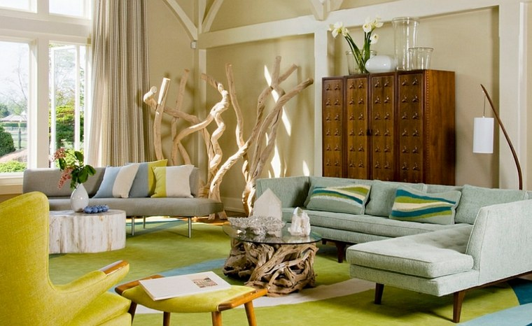 alfombras de colores modernas salón