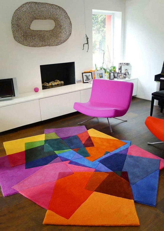 alfombras de colores modernas salones