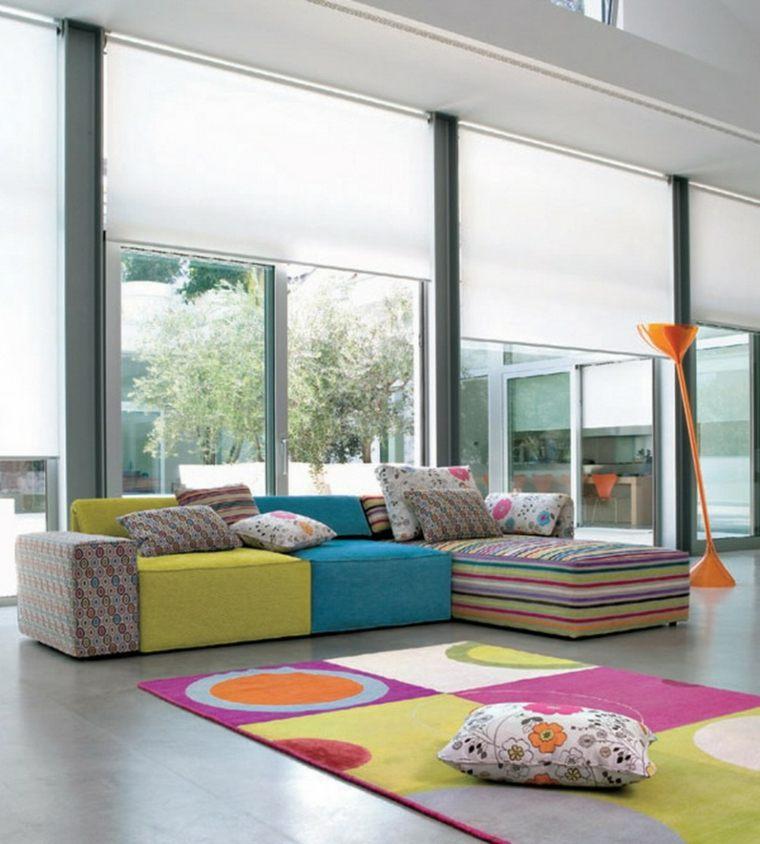 alfombras de colores modernas