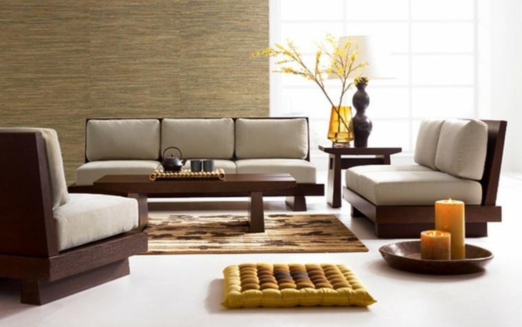 alfombras para salones modernos marrones