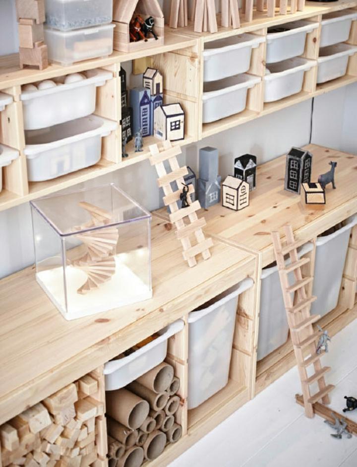 almacenamiento madera muebles soluciones escaleras