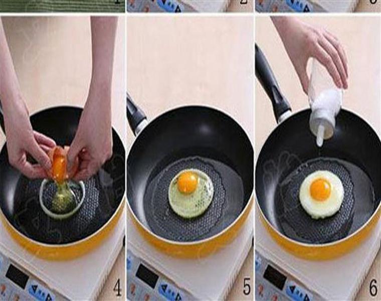 anillo cebolla huevo frito redondo