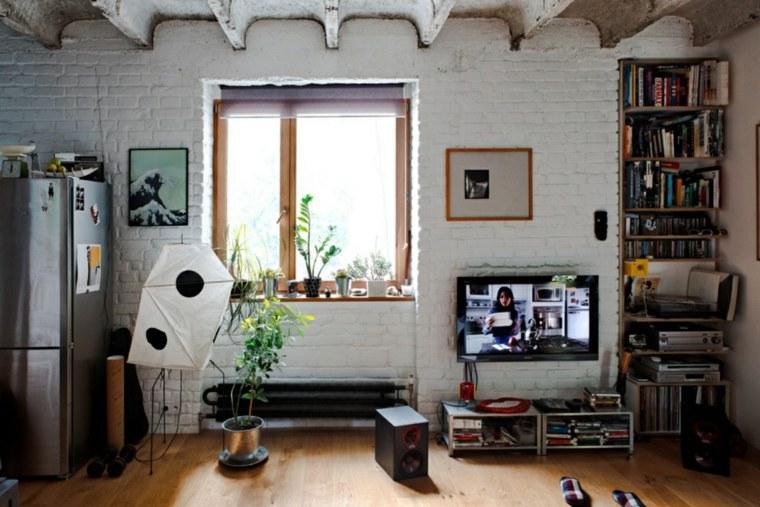 apartamento loft ladrillo blanco