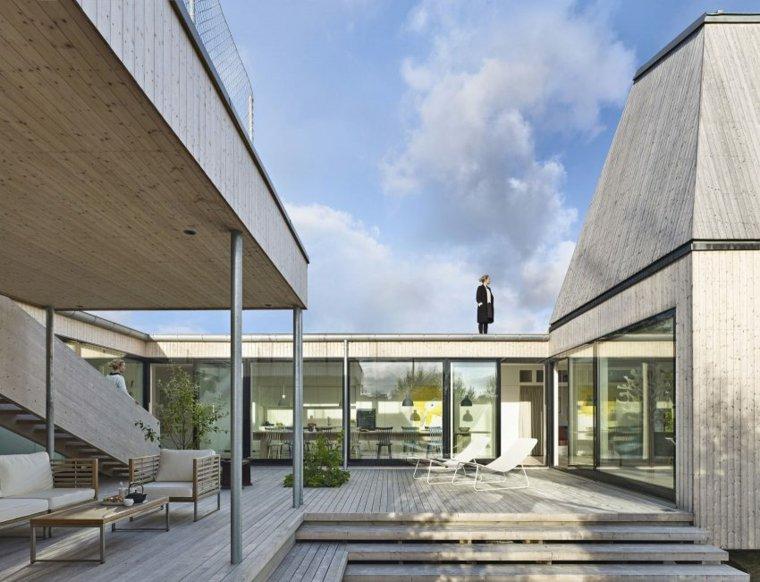arquitectura fuentes salones estantes techo