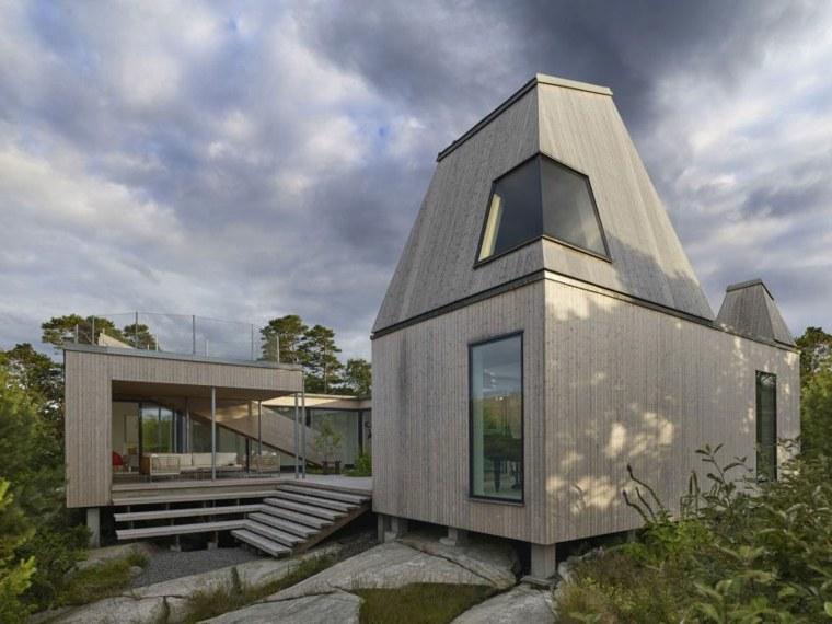 arquitectura materiales estilos muestras atardecer