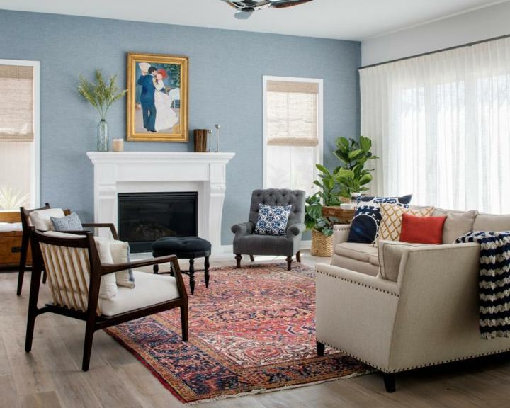 azul destacando pared chimeneas soluciones