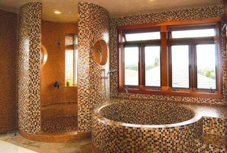 baños con mosaicos originales