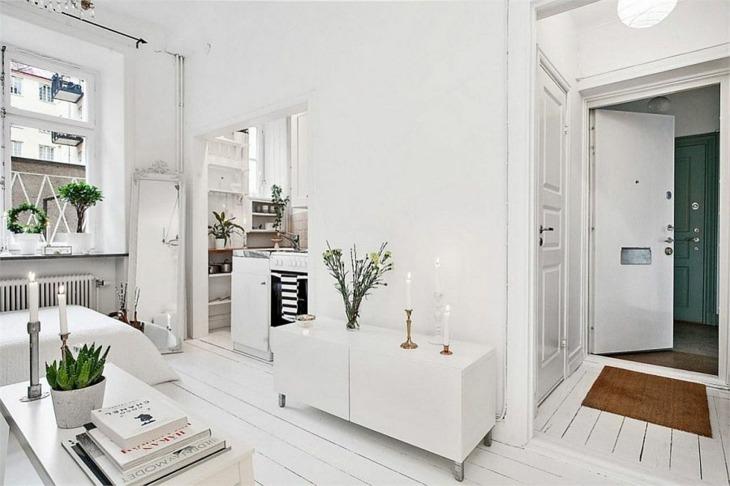 blanco amplio efecto apartamento escandinavo