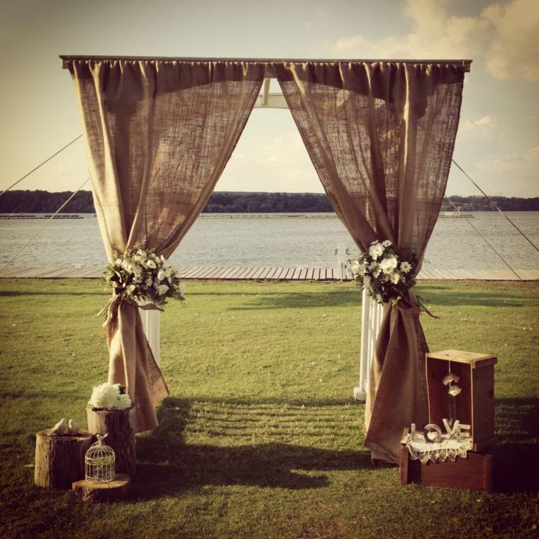boda vintage decoración exterior