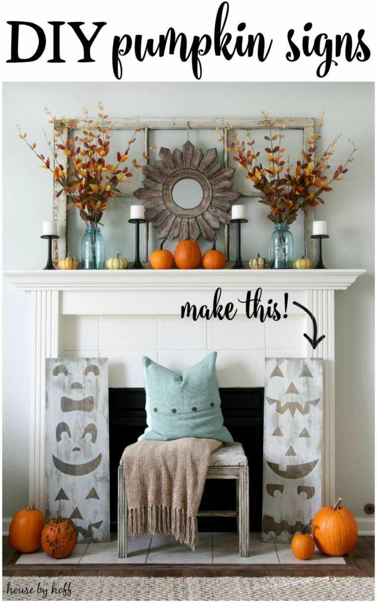 bonita decoración chimenea moderna
