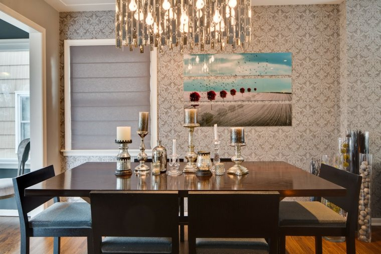 bonita decoración mesa comedro