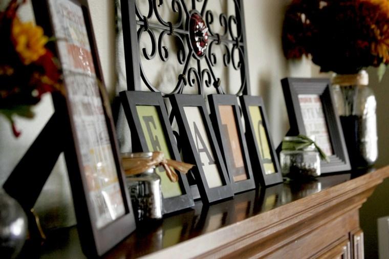 bonita decoracion chimenea salon