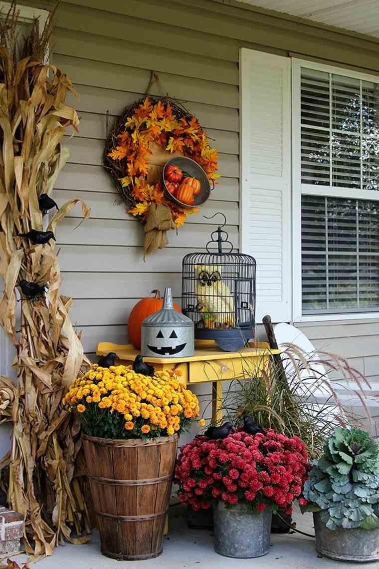 bonita decoración terarza porche