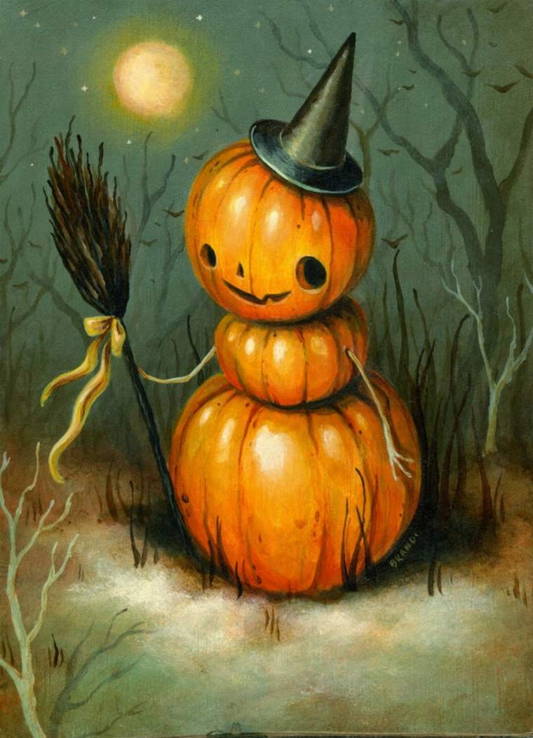 Decoracion de Halloween contemporánea - 42 ilustraciones -