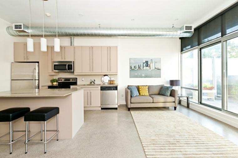 bonito diseño salón cocina