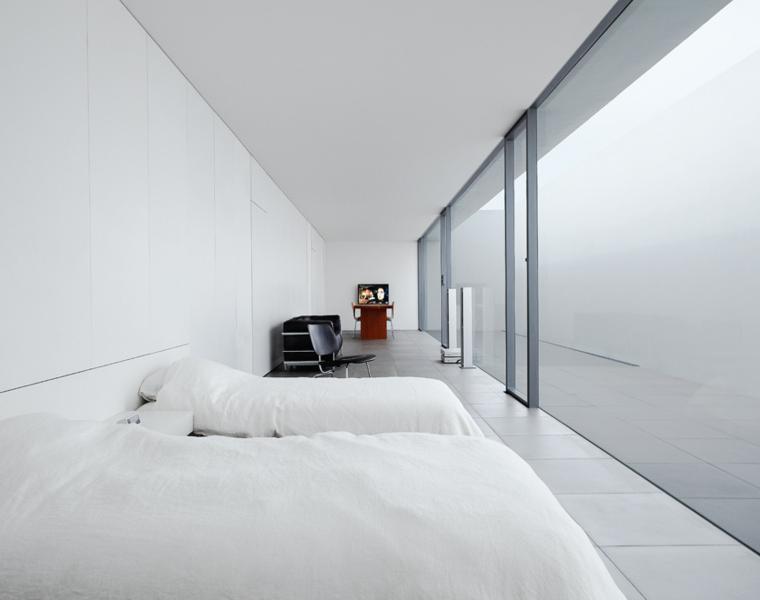 bonito diseño dormitorio minimalista blanco