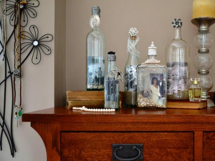 botellas de cristal fotografias imagenes senderos