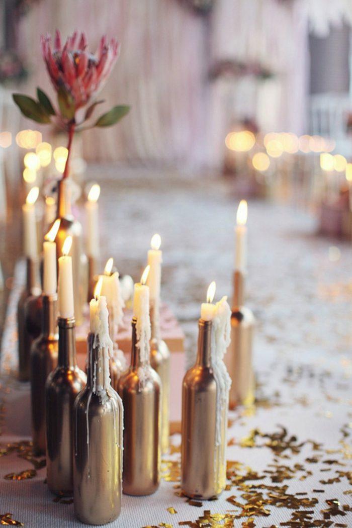 botellas de cristal utilizadas efectos velas