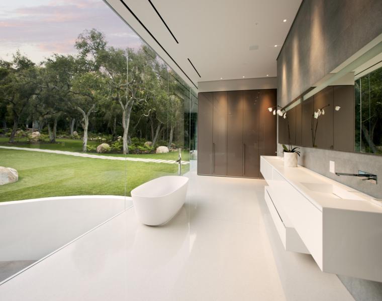 baño lujoso estilo minimalista