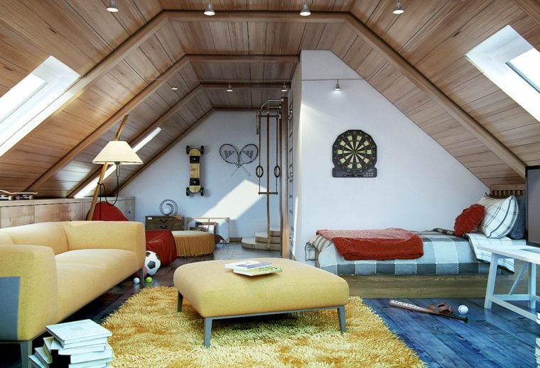 small attic bedroom ideas - Buhardillas con encanto ideas para el interior