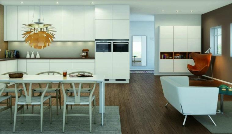 cabinetes blancos amplios estilos muebles