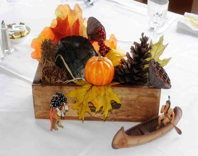 Pi as y hojas secas decora tu mesa para recibir el oto o for Decoracion con hojas secas