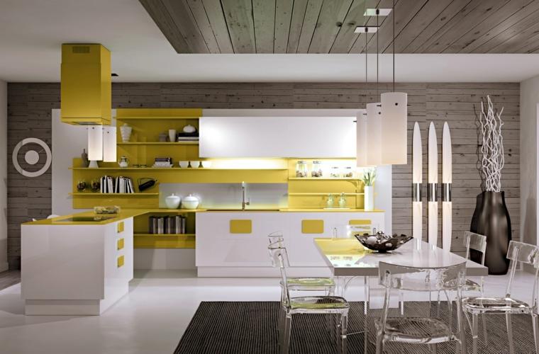 Accesorios para cocinas de color amarillo -