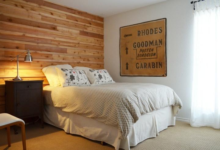 calida habitacion madera acento lamparas