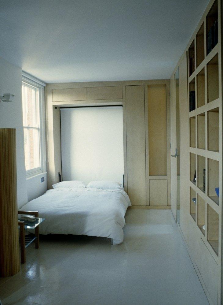 cama oculta plegable espacio ideas