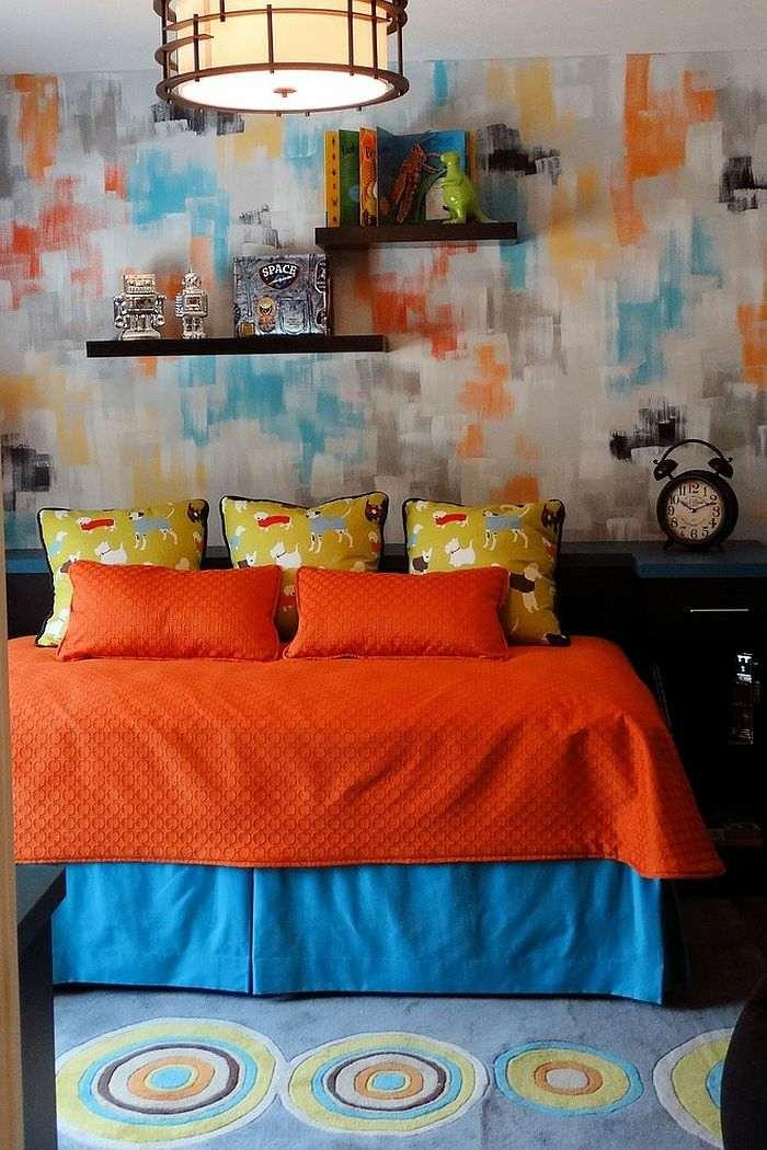 camas textiles colores materiales lamparas