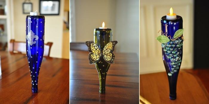 candelabros especiales botelllas vacias velas