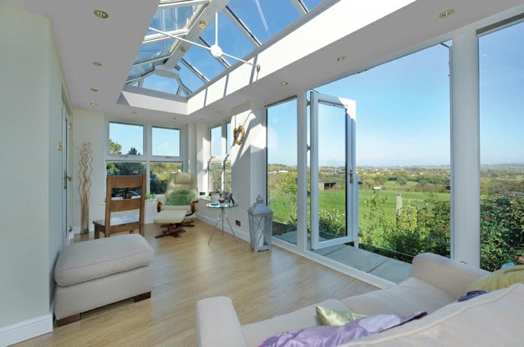 casa de cristal ventanales