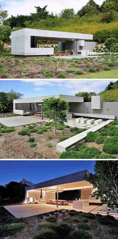 Casas de hormig n pabell n dise ado por metropolis design - Diseno de jardines para casas ...