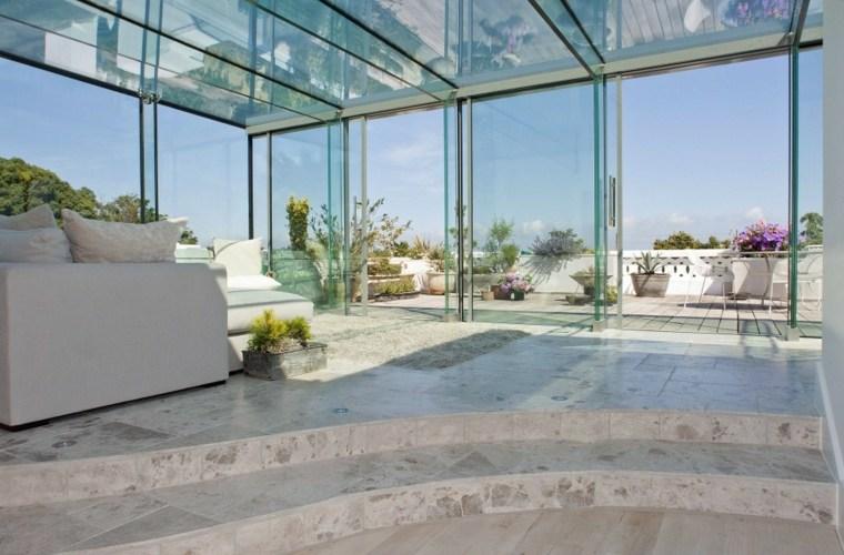 casas de vidrio elegantes