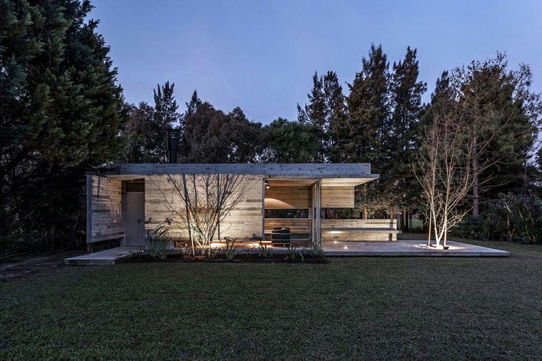 casas modernas singulares muebles arboles