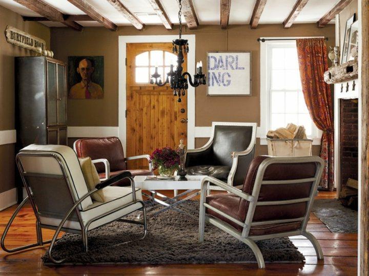 casas rusticas sillones chimeneas decorado salas