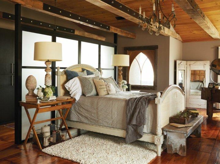 casas rusticas sillones metales madera