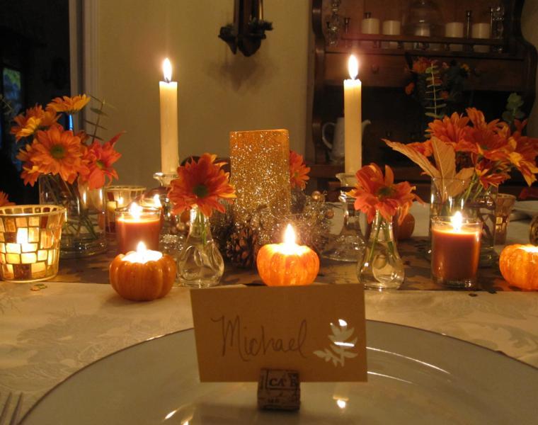 centro mesa para otoño