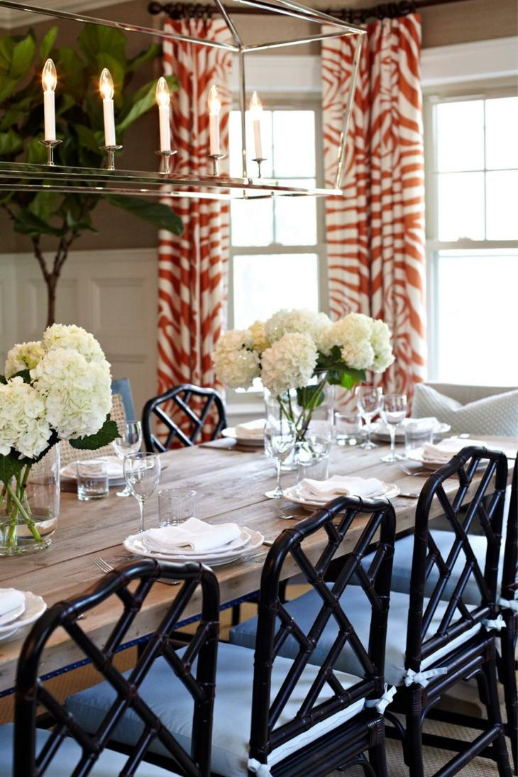 centros de mesa diy hortensias color fuentes