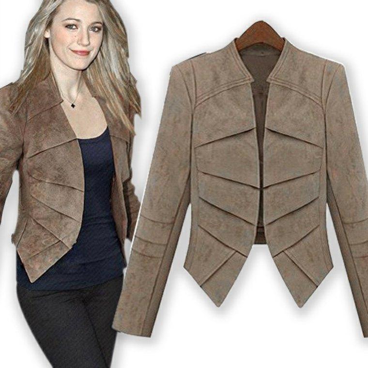 chaquetas para mujer color marrón